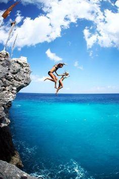 Jump!   Deep blue waters.