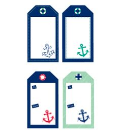 Free Sailor Nautical Tags | Chic Mother & Baby Blog {daily}