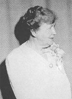 "Dr. Margaret H. Smyth. Born 1873, appointed Surgeon & Physician at the Stockton State Mental Asylum in 1900. Appointed Superintendent in 1929, the first woman to head a State Hospital for the mentally ill. A ""tireless proponent of the eugenic virtues of sterilization,"" she made it a precondition for patient release. On the other hand, she was also the first to use insulin shots and to outlaw the terms ""insane"" and ""asylum."""