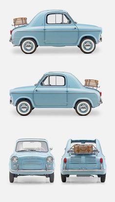 Vespa 400 Micro Car, by ACMA for Piaggio 1957/1961