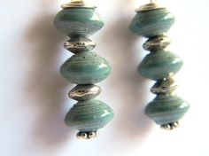 Paper Bead Jewelry Earrings Tiny Saucers 1205 by BeadAmigas