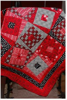Wonky red quilt!