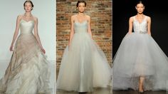 New wedding dress trends for 2014~Barely There Color