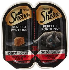 SHEBA PERFECT PORTIONS Beef Entrée Wet Cat Food Trays 2.6 Ounces (24 Twin Packs) - http://www.bunnybits.org/sheba-perfect-portions-beef-entree-wet-cat-food-trays-2-6-ounces-24-twin-packs/