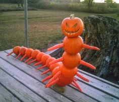 Cute and Funny Pictures and more: Scary Creepy Evil Pumpkin Centipede Halloween Decoration Holidays Halloween, Halloween Crafts, Happy Halloween, Halloween Decorations, Halloween Party, Peanuts Halloween, Spooky Decor, Halloween 2015, Halloween Stuff