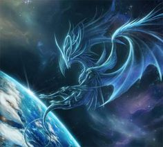 Unbelievable latest pixels magical image for dragon wallpaper art style and tablet trend Space Fantasy, Dark Fantasy, Fantasy Art, Dragon Bleu, Blue Dragon, Dragon Images, Dragon Pictures, Space Dragon, Dragon Artwork