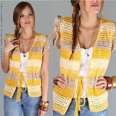 vtg 70s BUTTERCUP Crochet Knit Boho Hippie Hippy Festival dress Sweater Top S-M