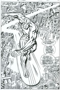 """JACK """"KING"""" KIRBY!   A page from FANTASTIC FOUR #72 by Jack Kirby and Joe Sinnott"""