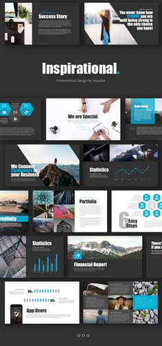 Inspirational Powerpoint Template  #new #template #light #app #dark • Download ➝…