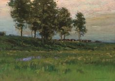 """""""Summer Landscape,"""" Charles Warren Eaton, oil on canvas, 16 x 22"""", private collection."""
