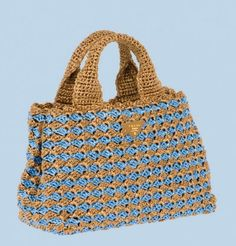 Prada has a new line of raffia crochet bags