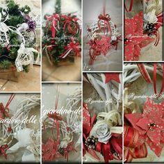 I miei ultimi lavori x Natale ....palline di gavetta tradizionali e shabby , ghirlande fuori porta .....e in produzione altre palline con tecniche diverse