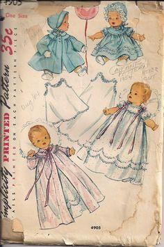50s UNCUT Newborn Baby Vintage Sewing Pattern by HoneymoonBus,