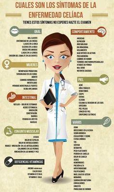 La enfermedad celíaca y sus síntomas. #celiacos #salud #infografia