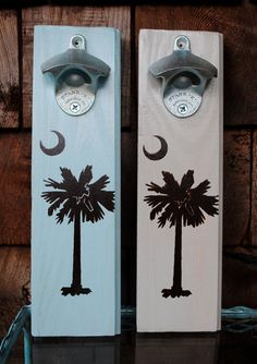 bottle opener + palmetto tree/crescent moon..just reminds me so much of @Katherine Walendzik!! Miss you!
