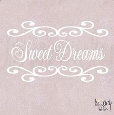 Sweet Dreams Vinyl Decal- Wall Art, Nursery, Baby, Girl, Teen. $14.00, via Etsy.