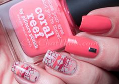 Coral Reef by piCture pOlish Country Nails, London Nails, Finger Nail Art, Picture Polish, Paws And Claws, Stamping Nail Art, Nail File, You Nailed It, Hair And Nails