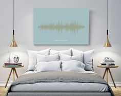 Personalised Voice Or Song Sound Wave Canvas Pick your favourite Song and colour scheme
