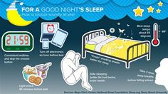 TODAY Show #infographic For a Good Night's Sleep (This was part of an episode on Cognitive Behavioral Therapy for Insomnia as better and safer than sleeping pills)