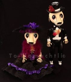 Day of the Dead  Pets by ToTlamachtli on Etsy, $80.00