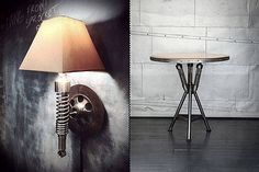 The Classified Moto Furniture Collection for motorcycle lovers? Recycled Japanese motorcycle parts Car Part Furniture, Automotive Furniture, Furniture Making, Cool Furniture, Furniture Design, Automotive Decor, Garage Furniture, Modern Furniture, Recycled Furniture