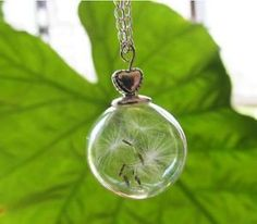 Unique Dandelion Pendant Silver Globe Pendant Dandelion Necklace Fashion Jewelry | eBay
