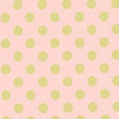 Michael Miller House Designer - Glitz - Quarter Dot Pearlized in Blush - Curtain fabric