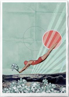Wasserfrühling Fine Art Collage Illustration by EineDerGuten, €18.00