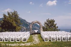 Vista View Ceremony | Gorgeous Tented Italian Wedding Along The Amalfi Coast At Villa Eva | Photograph by Gianni di Natale Photographer  http://storyboardwedding.com/tented-italian-wedding-amalfi-coast-villa-eva/