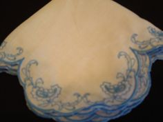 Delicate Embroidered Handkerchief by cajunstitchery on Etsy, $25.00