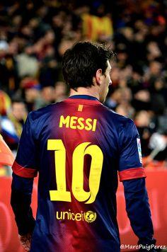 Leo Messi a la Semifinal de Copa del Rei - Barça - Madrid 26/02/2013
