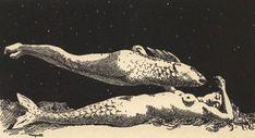 René Magritte - Le rêve de l'androgyne, 1924 - René Magritte – Le rêve de l'androgyne, 1924 - Rene Magritte, Man Ray, Art And Illustration, Tarot, Building Images, Sea Witch, Mermaids And Mermen, Merfolk, Artistic Photography