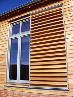Western red cedar was specified for this Medera Louvre project, Steiner academy consisted of mixed static and sliding panels.