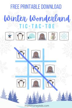 We created this super fun winter-themed tic tac toe game printable that you can use to play tic tac toe, or you can use it as a cool memory game for your kids. #wintertictactoe, #tictactoe, #winterwonderland, #freeprintable, #toddleractivities, #homeschool, #winteractivities, #wintergames, Toddler Board Games, Toddler Home Activities, Printable Games For Kids, Free Printables, Tic Tac Toe Game, Parenting Toddlers, Family Game Night, Winter Theme, Free Games