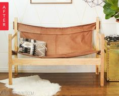 Before & After: From Busted Sofa to Stylish Safari Bench — Vintage Revivals | Apartment Therapy