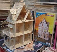 Amazon.com: Gothic Wooden Dollhouse Woodcraft Construction Kit Youku: Toys & Games
