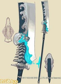 Ninja Weapons, Anime Weapons, Sci Fi Weapons, Weapon Concept Art, Armor Concept, Weapons Guns, Glaive Weapons, Fantasy Sword, Fantasy Armor