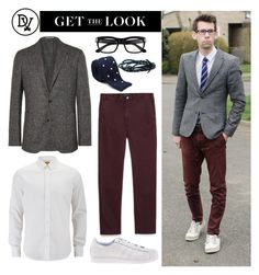 """Geek Look"" by dappervigilante ❤ liked on Polyvore featuring Boglioli, Zara, BOSS Orange, Sanders, Tom Ford and adidas"