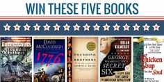 Win 4 Books on US Founding History + a Signed Copy of Chicken Soup for the Soul http://bookgiveaways.net/michaelgorton/giveaways/win-4-us-historical-books/?lucky=323 via @