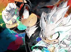 Shadow and Silver Silver The Hedgehog, Shadow The Hedgehog, Sonic The Hedgehog, Video Game Movies, Video Games, Sonic Franchise, Sonic And Shadow, Sonic Fan Art, Shadow Art