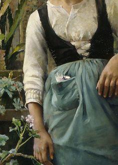 The Garden Girl by Amélie Helga Lundahl, 1885 (detail)