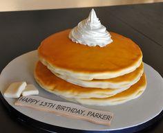 """Edible Art, """"Pancake"""" Cake."""