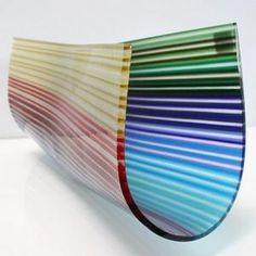 linear art glass sculpture by orfeo quagliata