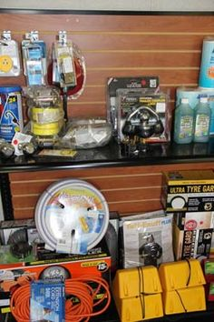 The accessory store at McBride's is great for that last minute item you forgot before you hit the road or get on the water!