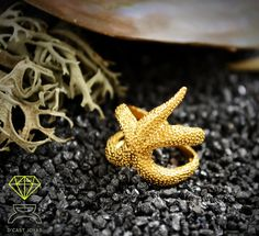 Starfish Ring Handcrafted in 18k gold de Dcastjoyas en Etsy