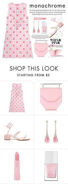 """Think Pink"" by conch-lady ❤ liked on Polyvore featuring H&M, Paskal, M2Malletier, René Caovilla, Miadora, Forever 21, The Hand & Foot Spa, thinkpink and monochromepink"