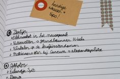 make a list with useful places and address's.