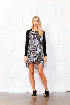 Sass clothing Graphic Dress - Womens Short Dresses - Birdsnest Online Shop