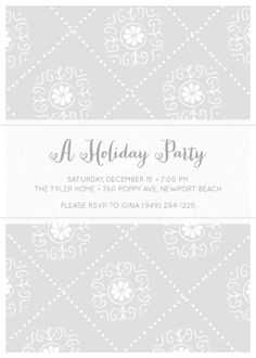party invitations - Diamonds & Dots by Monica Schafer