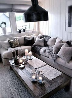 A sumptuous sofa look needn't break the bank: this look is all about juxtaposing soft furnishings. Take a peek at our range.. http://bit.ly/1MTmxsA